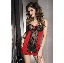 Коротенькое красное платьице с трусиками Hana S/M