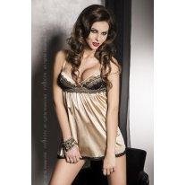 Золотистое платье из атласа Sharon S/M