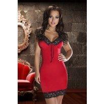 Красное платье с черным кружевом Natasha S/M