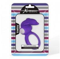 Кольцо на член с вибрацией X-Basic Dolphin фиолетовое