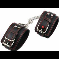 Черные наручники для БДСМ бондажа