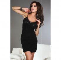 Черное эротическое платье Brigitte L