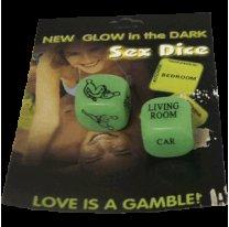 Кости New Glow in the Dark Sex Dice