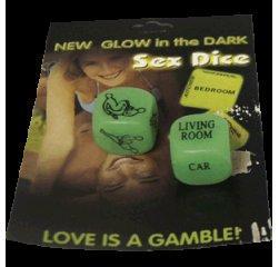 Кости New Glow in the Dark Sex Dice