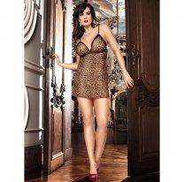Леопардовое мини-платье Animal со стрингами
