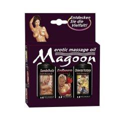 Незаменимый набор массажных масел Magoon (3x50 мл) для нежного массажа и горячего секса