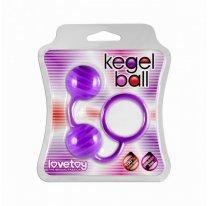 Фиолетовые вагинальные шарики Kegel ball