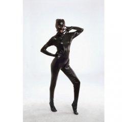 Черный БДСМ боди-комбинезон с маской L