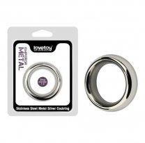 Металлическое кольцо на член Stainless Steel Silver Cockring 40 мм