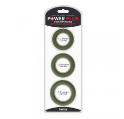 Кольца на член в наборе Power Plus Soft Snug зеленые
