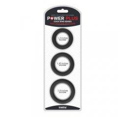 Набор из 3 черных эрекционных колец Power Plus Soft