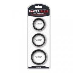 Набор из 3 плоских эрекционных колец Power Plus Soft Pro черные