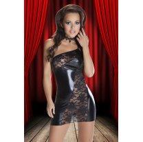 Дерзкое мини-платье под кожу Sila S/M с трусиками