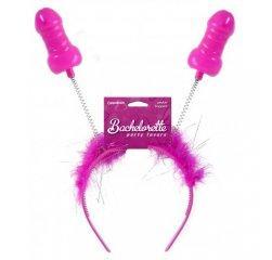 Обруч на голову с рожками в виде члена Bachelorette Party