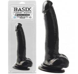 Мощный фаллоимитатор с присоской Basix Rubber Works Black