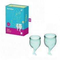 Набор менструальных чаш Satisfyer Feel Secure, зеленый