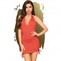 Красное мини-платье со стрингами Penthouse Earth-Shaker S/M