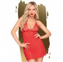 Красное платье-сорочка и трусики-стринги Penthouse Bedtime story L/XL