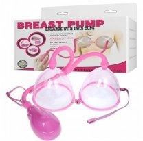 Вакуумная помпа для груди двойная Breast Pump Twin Cups с автоматическим насосом