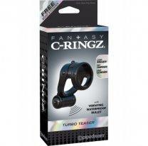 Двойное эрекционное кольцо с вибрацией Fantasy C-Ringz Turbo Teazer