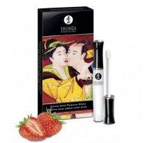 Стимулирующий блеск для губ Lipgloss Sparkling Strawberry Wine Клубника и шампанское 10 мл