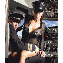 Сексуальный женский наряд пилота M/L