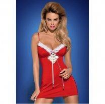 Эротическое платьице новогоднее со стрингами Jinglebell S/M