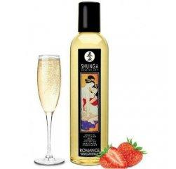 Возбуждающее массажное масло Shunga Romance Sparkling Strawberry Wine 250 мл