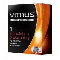 Презервативы VITALIS PREMIUM №3 Stimulation & Warming - с согревающим эффектом