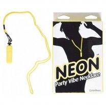 Вибропуля желтого цвета на шнурке Neon Party Vibe Necklace