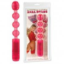 Анальная цепочка с вибрацией Waterproof Flexible Anal Beads Pink