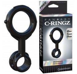 Двойное колечко на пенис и мошонку Fantasy C-Ringz Ironman Duo-Ring