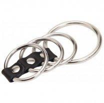 4 кольца на член на ремешке