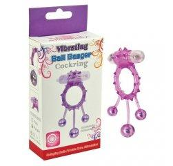 Фиолетовое кольцо на член с вибрацией Ball Banger 3 Balls Vibe