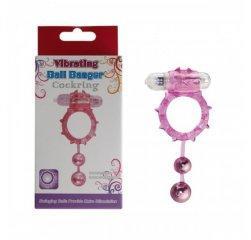 Виброкольцо на член Ball Banger 2 Balls Vibe фиолетовое