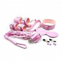 Розовый БДСМ-набор из 8 игрушек
