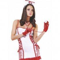 Эротический костюм эффектной медсестры M/L