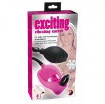 Вакуумная вагинальная помпа с вибрацией Excitng Vibrating Sucker Pink