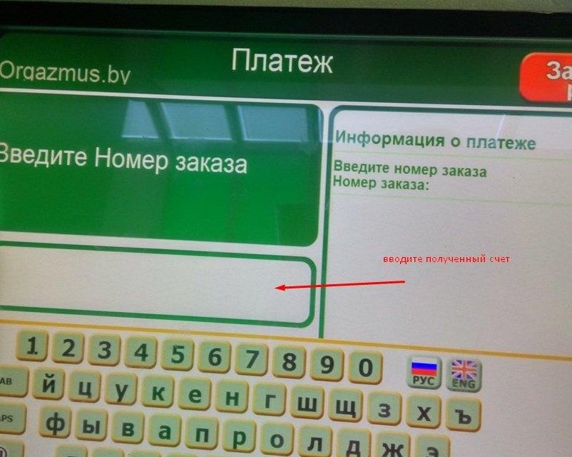 Оплата заказа в секс шопе в Минске через инфокиоск