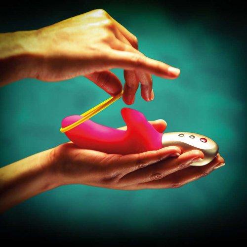 Вибратор Fun Factory Amorino розовый купить по лучшей цене в Беларуси в сексшопе ORGAZMUS с доставкой в Минск, Витебск, Гомель, Брест, Могилев, Гродно и др.города за 24 часа